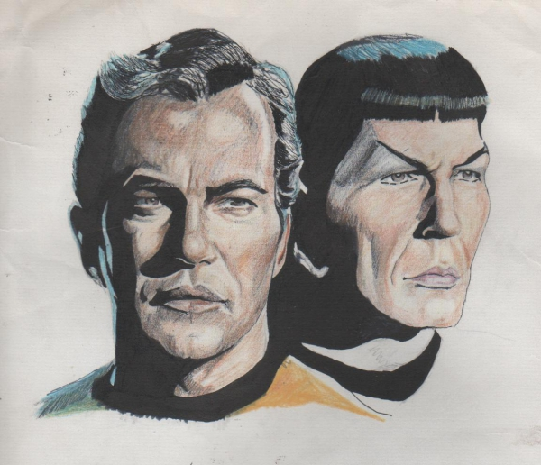William Shatner, Leonard Nimoy by weaverjohn